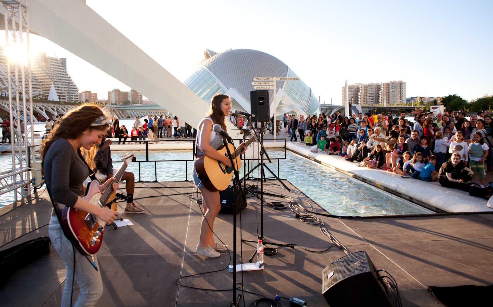 Un lago de conciertos de Berklee Valencia