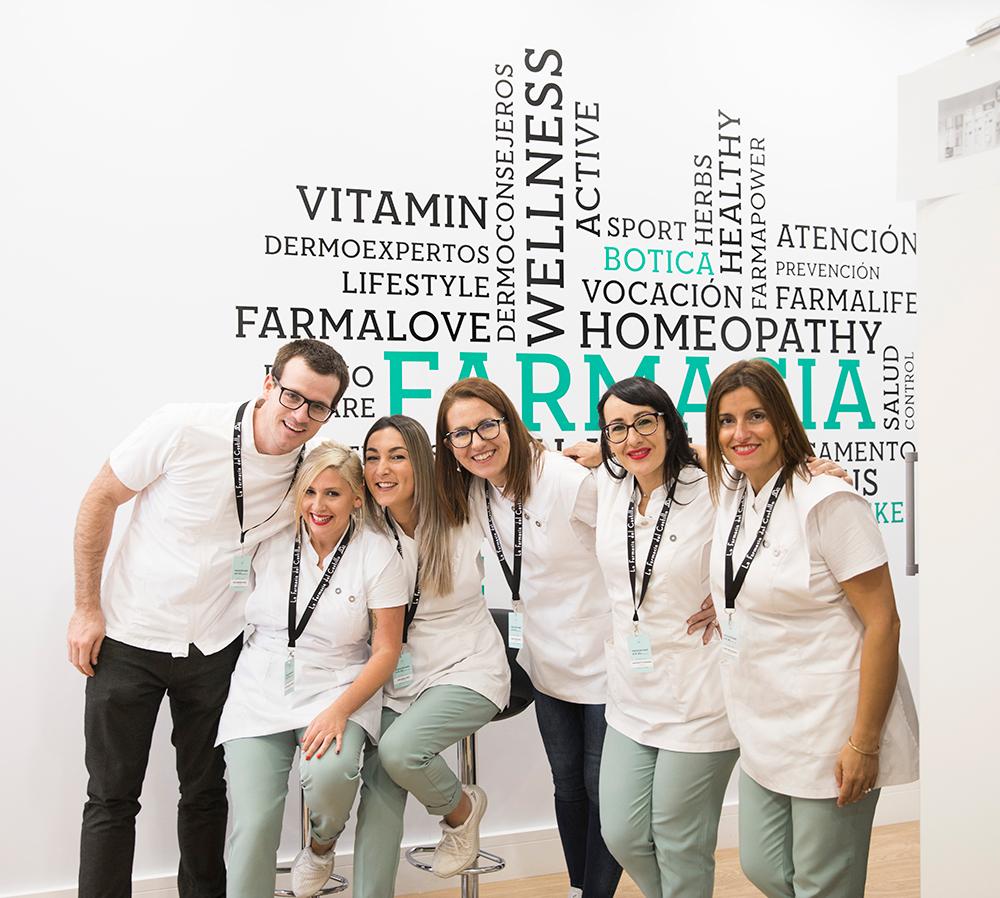 fotografía del equipo de farmacia del castillo