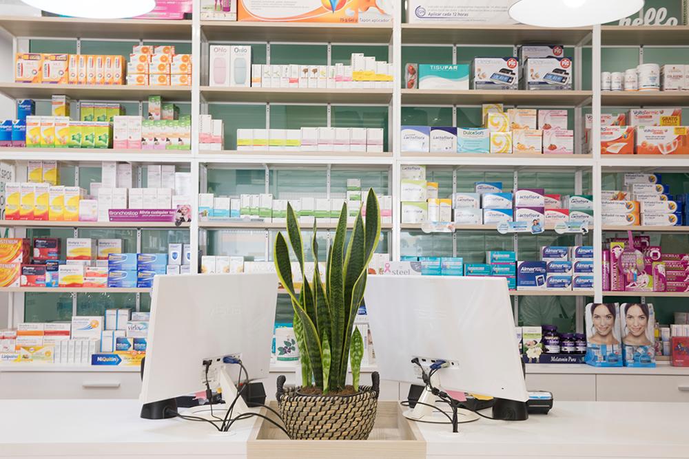 Mostrador de la farmacia del castillo