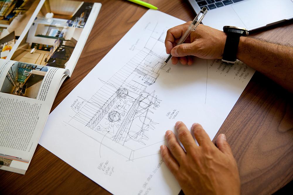 Boceto de proyecto en la Galería-Estudio
