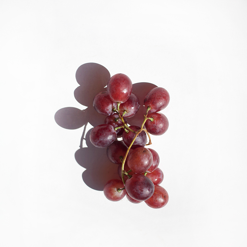 racimo de uva roja