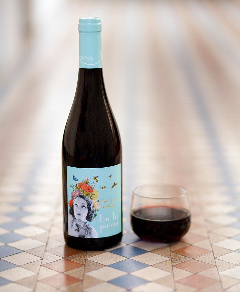 Botella de vino grupo nodus