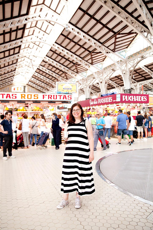 Noelia Ripoll en el mercado central